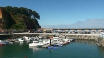 PAISAJE en el puerto de Candás, Asturias 11 junio