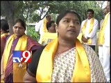 TDP protests against price rise of essential commodities