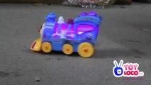 Battery Operated Funny Choo Choo Bump And Go Train Toy 618 Demo