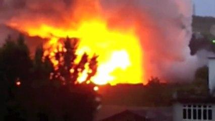 Incendie près de la gare SNCF du Puy-en-Velay, jeudi 13 juin 2013
