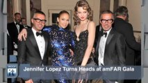 Jennifer Lopez News Pop: Jennifer Lopez Turns Heads at AmFAR Gala