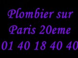 Plombier Paris 20 : 01 40 18 40 40 plomberie