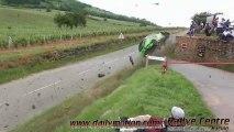 Rallye vins Macon 2013 sortie de route Megane crash