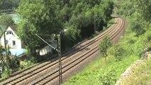 Eisenbahnen bei der Loreley, ERS 189, RBS DB 185, SBB Cargo Re482, 2x DB 185, 145, 2x 101, 2x 428