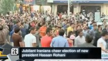 Politics Breaking News: Jubilant Iranians Cheer Election of New President Hassan Rohani
