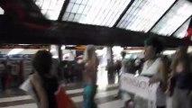 Post corteo contro i mattatoi Firenze, invasione pacifica alla stazione :)