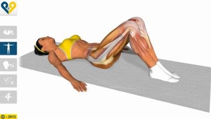 Elongación lumbar con rotación de las rodillas