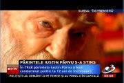 """PARINTELE IUSTIN PARVU la Antena 3 (imagini filmate pt. emisiunea """"In premiera"""")"""