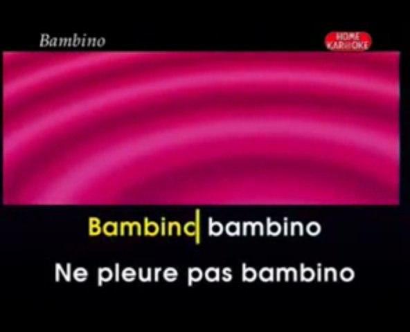 karaoke - Bambino - Dalida