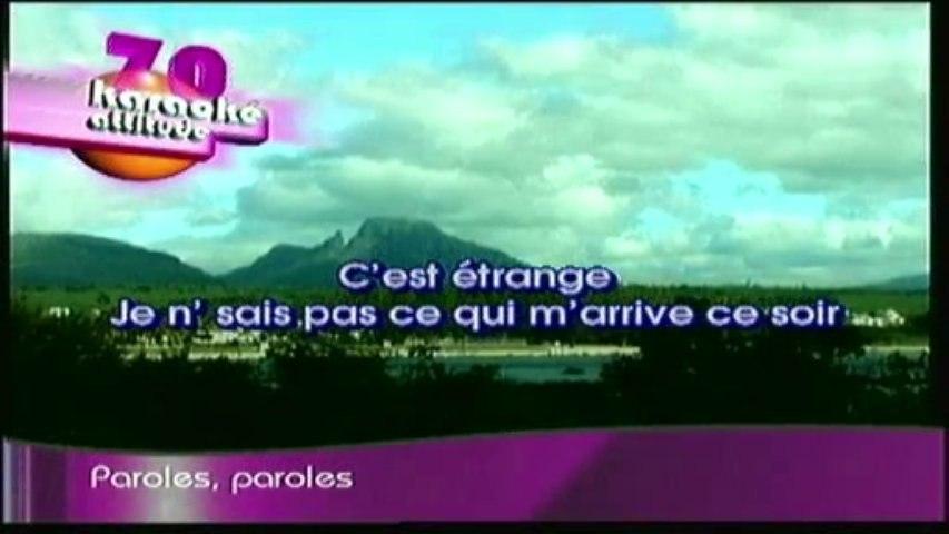 karaoke - Paroles paroles - Dalida