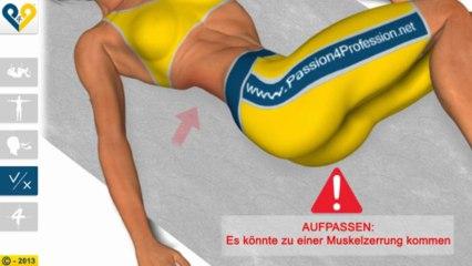 Dehnung der Lumbalmuskulatur durch Drehung der Knie