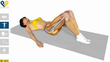 伴随双膝转动的腰部伸展运动