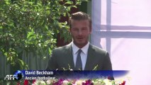 La star de foot David Beckham en visite en Chine