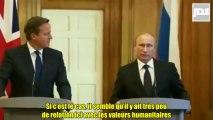 Poutine à Cameron sur la Syrie - Est-ce ces gens que vous voulez soutenir et armer ? des gens qui mangent des organes ?