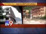 5 storey building collapses in Uttarakasi - Tv9 Exclusive visuals