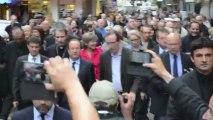 Inondations : François Hollande en visite à Lourdes