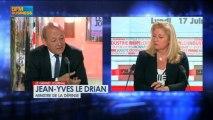 Jean-Yves Le Drian, ministre de la Défense dans Le Grand Journal - 17 juin 1/4