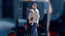 Toned Rita Ora Gives Boyfriend Calvin Harris a Goodbye Hug in Los Angeles