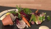 Légumes primeurs dans leur pot de terre, crème de haricots de Soissons - 750 Grammes
