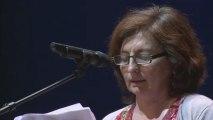 Sophie Zafari, pour le collectif français de l'Altersommet d'Athènes / En soutien au peuple grec au Châtelet