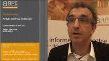 Bruno Lion, Directeur adjoint à la DRAAF Midi-Pyrénées : Pollution de l'eau et des sols : bien définier le terme pollution.