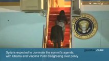 G8: security high ahead of Barack Obama's arrival – video