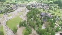 Lourdes et Barèges : le survol des dégâts
