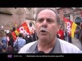 Manifestation de 200 fonctionnaires (Toulouse)