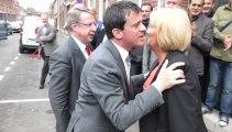 Manuel Valls au siège du PS Wattrelos