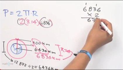 Longitud de la órbita de un satélite (perímetro de una circunferencia)