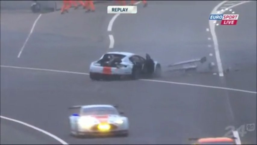 24h du Mans 2013 Allan Simonsen Fatal crash