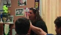 Hier soir apres le tournoi de Floure, au siege du FCA, nous avons eu le plaisir d'avoir Mr Espinas, le papa de Chrystal, joueuse au FCA de nous chanté quelques morceaux