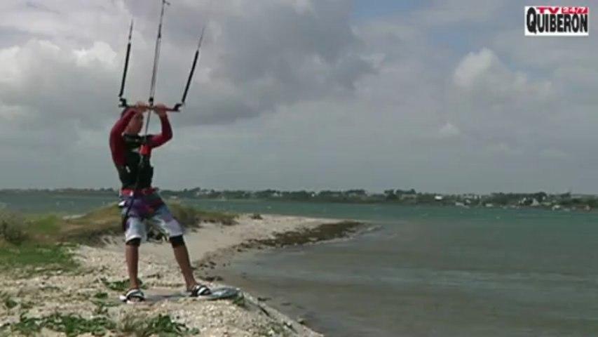 Kitesurf: Sauts freestyle Nathan Sicallac - Bretagne Télé