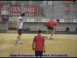 Finale 1D et 2D, Championnat de Fance Simple, Sport-Boules, Dardilly 2013