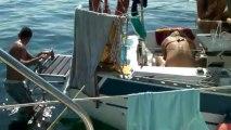 David et les poissons; la pêche non miraculeuse....