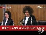 Caso Ruby, Berlusconi condannato a 7 anni e interdetto-VideoDoc. La sentenza dei giudici milanesi nei confronti dell'ex premier