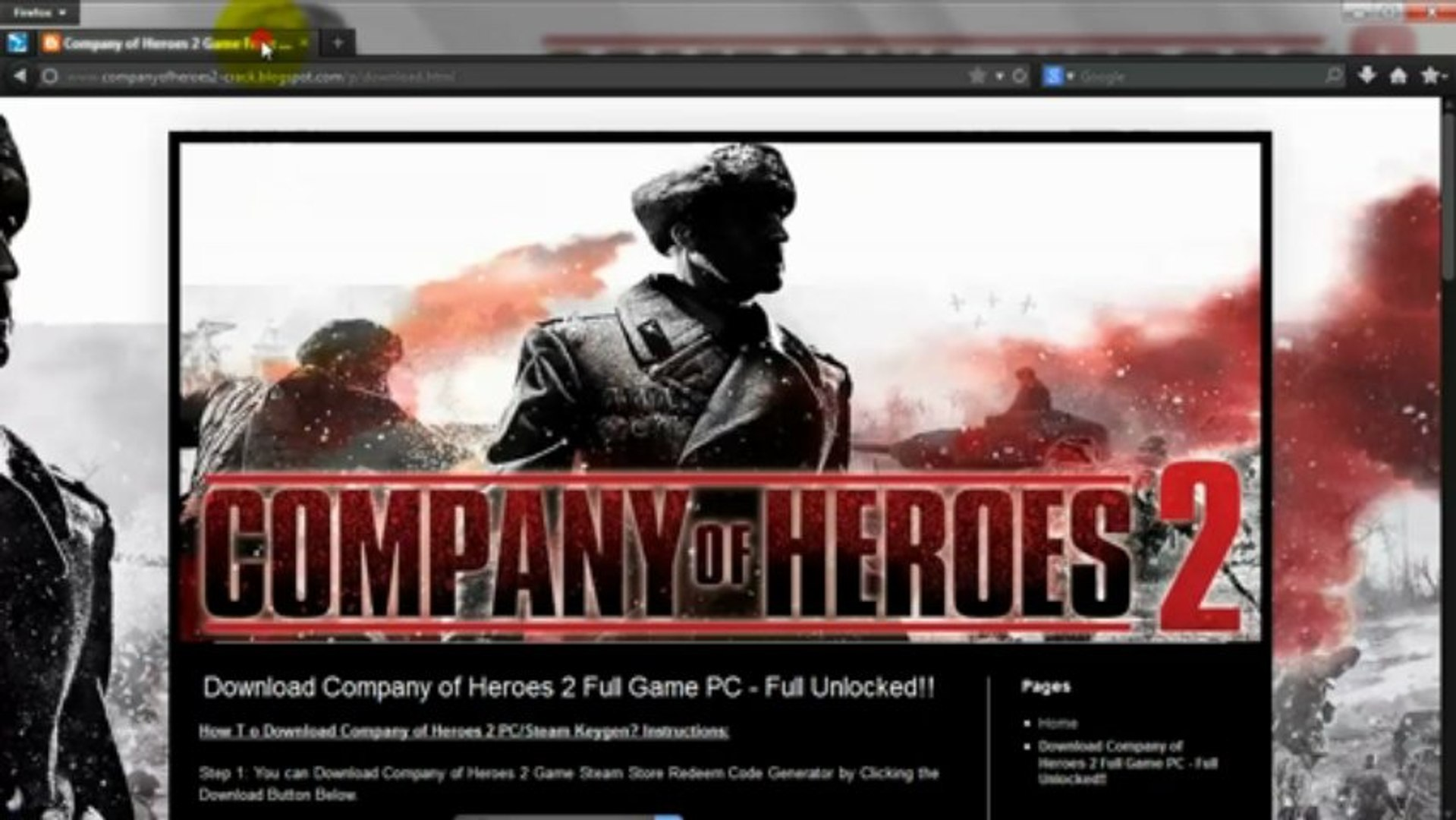 company of heroes 2 download skidrow