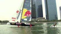 Red Bull team wakeboarder Sasha Christian gets extreme with Red Bull Sailing Team