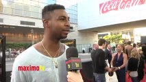 """Dorell Wright Interview at KEVIN HART """"Let Me Explain"""" Movie Premiere Red Carpet in Los Angeles"""