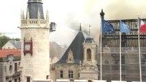 Célà tv - Le feu détruit l'Hôtel de Ville de La Rochelle