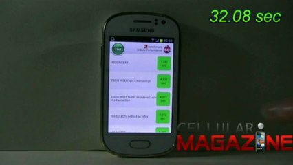 Samsung Galaxy Fame con SQLite Bench