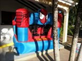 GUADELOUPE LOCATION CHATEAU GONFLABLE SPIDERMAN