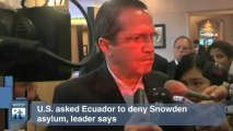 Edward Snowden Breaking News: Ecuador President: Snowden Can't Leave Moscow