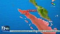 Sismo de 6.1 grados sacude norte de Indonesia