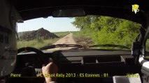 Claudy Desoil Rally 2013 on-board Pierre Bouillé Peugeot 205 ES Estinnes