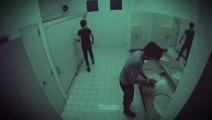 Caméra cachée : cadavre dans une valise aux toilettes