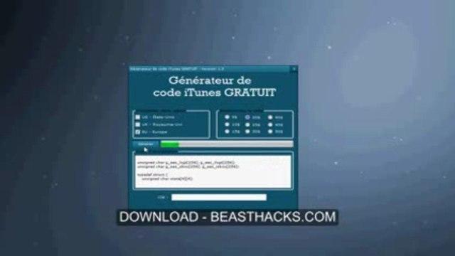 Générateur de code iTunes / Juillet 2013 Update - Générer un code cadeau GRATUIT (téléchargement gratuit)