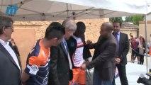 MHSC le nouveau maillot de Montpellier domicile et extérieur avec Rémy Cabella et Djamel Bakar