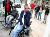 Les jeunes Noyonnais ont testé l'accessibilité aux personnes handicapées