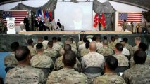 US soldiers attend naturalisation ceremony in Afghanistan
